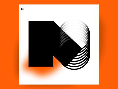 N typedesign alphabet typography blur gradient goodtype poster typeposter alphabet logo logo lettering 36daysoftype08 36daysoftype inspiration typogaphy design ux ui dribbble