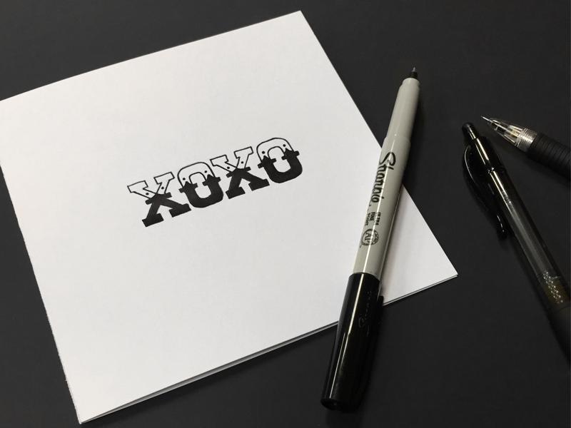 Xoxo lettering 800x600