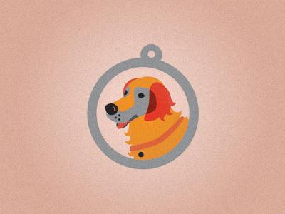 Golden Retriever logo dog orange circle golden retriever