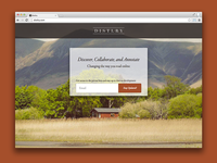 Distlry Landing Page