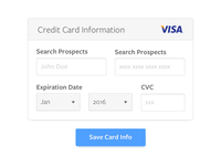 Credit card entry