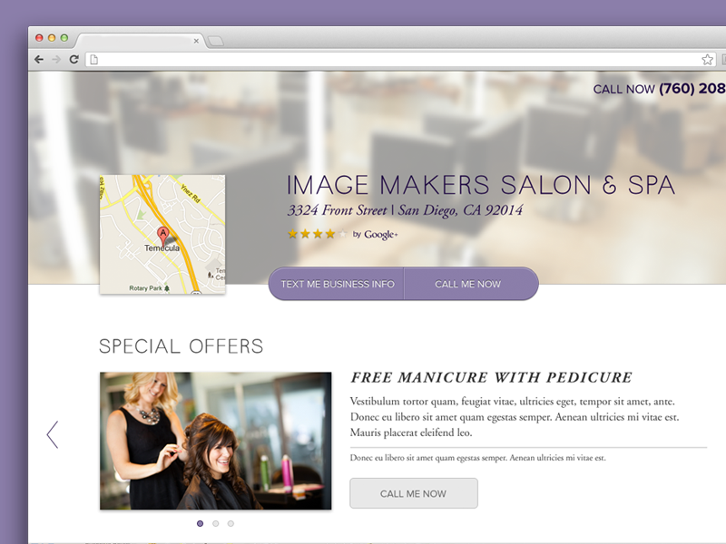 Salon template