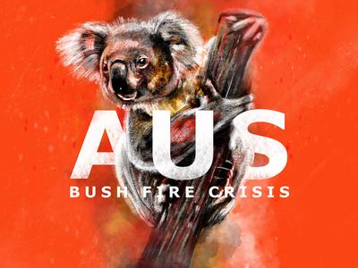 Australian Bush Fire Crisis Illustration