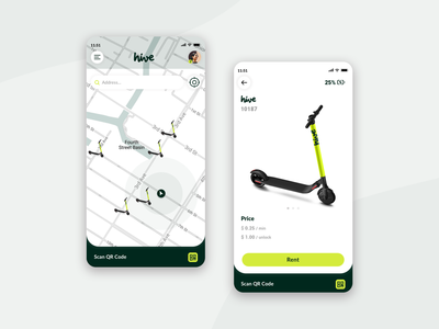 Hive electric scooter sharing