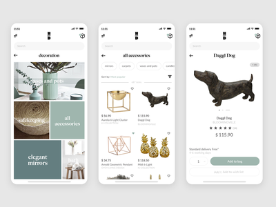 Accessories mobile design mobile app shop accessories uidesign ui sketch illustration mobile vector clean application flat ux ux design design app
