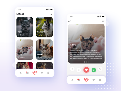 Adopt pet application sketch adopt mobile web clean pets app ui ux design ux design