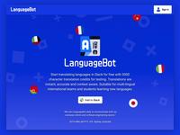 LanguageBot / landing page & Slack install process