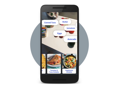 Computer vision for recipe suggestions / Android smartphone android google tensorflow 3d ux ui artificial intelligence ml computer vision recipe food mp4 video motion ai machine learning app