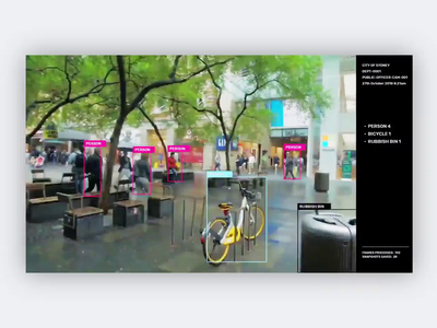 Computer vision prototype / streets of Sydney tracking street smart city artificial intelligence ml ai tensorflow python code motion video mp4 machine learning australia sydney