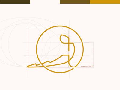 Yoga School Logo yoga proportion golden