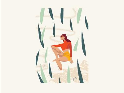 Summerfeelings nature summer vector fashion illustration