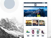 Lofoten Homepage Design