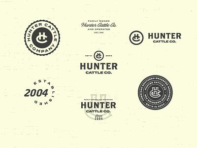 Processing Cattle typography cattle cow farm vintage clean branding logo design logo identity badges badge