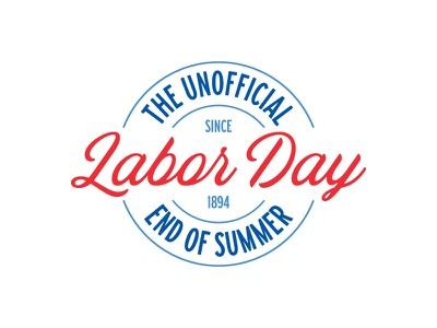 Work Hard. Play Hard. federal labor union merica america badge design badge branding labor day
