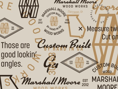 MMWW continued brand icon identity logo mark m w wood woodworking handmade badge typography