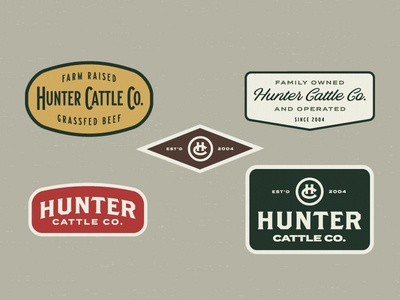 HC Patches apparel typography vintage patch mark logo lockup branding badge thick lines cattle icon
