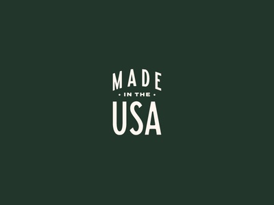 Made in the good ol' US of A usa badge typography type branding lockup logo patch made stars stripes