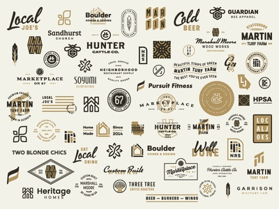 End of Last Year typography monogram fitness coffee home feather leaf farm logo identity branding badges