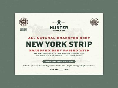 Moo thangs monogram label packaging badge typography stamp logo branding cow cattle steak new york