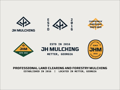 Chopping N' Shredding mark thick lines badge brand patch typography branding forestry logo h j tree