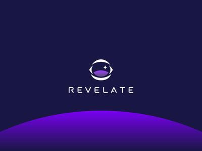 Space-y thangs helmet horizon eye astronaut icon mark typography logo design clean identity logo branding