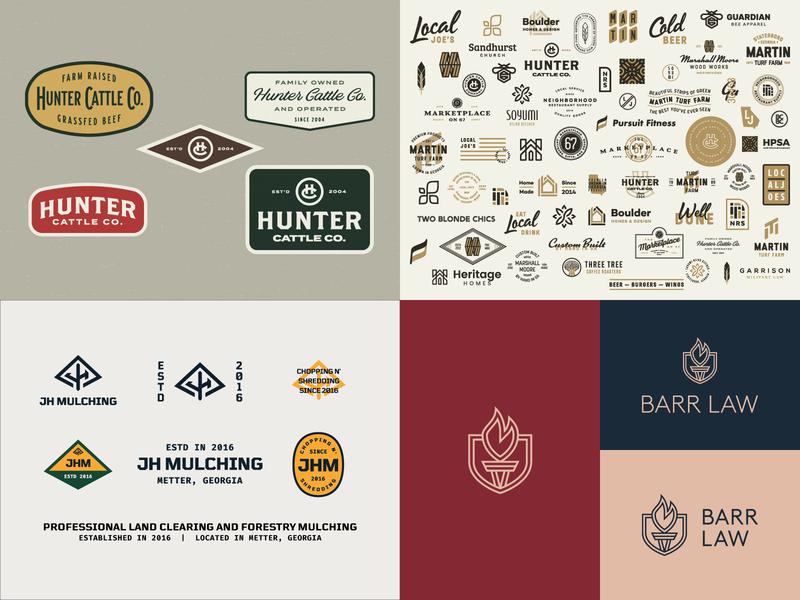 2018 Top 4 illustration icon thick lines mark typography logo design badge clean identity logo branding