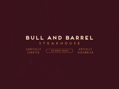 Bull and Barrel, Part Two type seafood steakhouse restaraunt clean identity badge typography branding