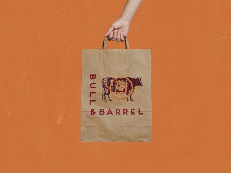 Bull and Barrel, Part Three type bull cow steakhouse restaurant illustration typography identity logo branding