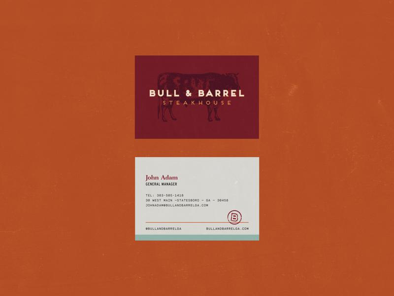 Bull and Barrel, Part Four type seafood steakhouse restaraunt illustration logo design badge typography clean identity logo branding