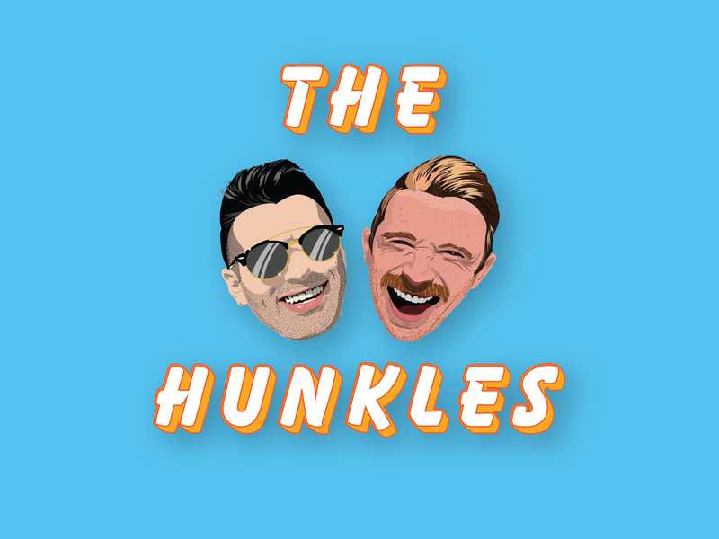 The Hunkles cartoon face hunkle pride colors