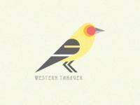Native Bird Series - Western Tanager
