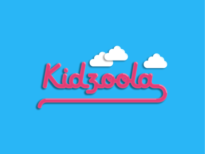 Kidzoola Concept vector montana missoula branding logodesign bubble neon sky pink pipes clouds kids logo design neon sign logo