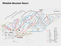 Big Mountain Subway Style Trail Map
