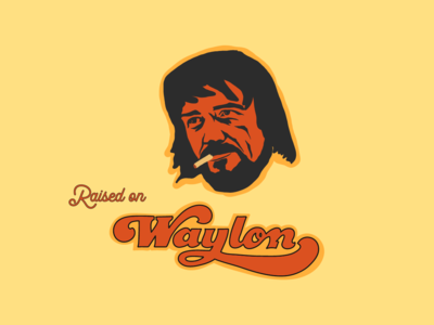 Raised on Waylon country and western vintage outlaws country music outlaw music waylon and willie waylon jennings