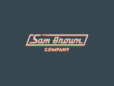 Sam Brown Logo home appliances montana branding company brown sam logodesign logotype logo