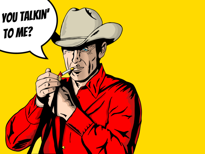 You Talkin' To Me? rodeo montana popart western cowboy