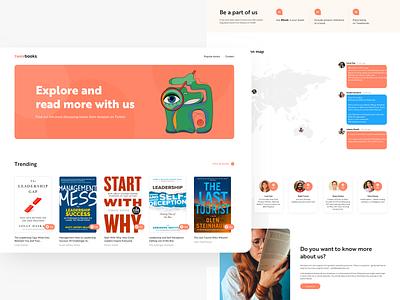 Tweebooks twitter minimal product feed amazon book illustration site landing design ux ui