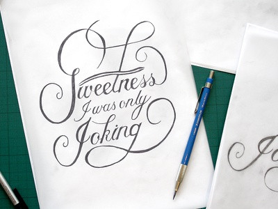 Sweetness Script Sketch hand drawn font hand drawn type script quote design lettering pencil sketch handlettering
