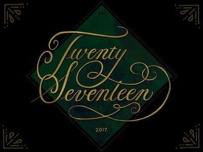 Twenty Seventeen copperplate script calligraphy handlettering ipadcalligraphy procreate ipadpro