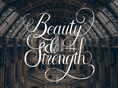 Beauty & Strength ipad calligraphy ipad lettering procreate london beauty script calligraphy