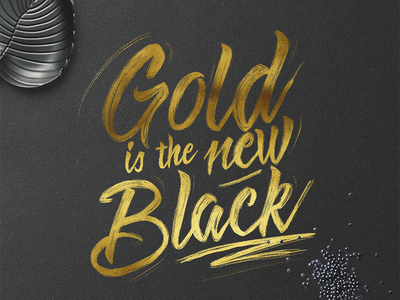 Gold is the new Black gold texture hand lettering ipad calligraphy texture procreate