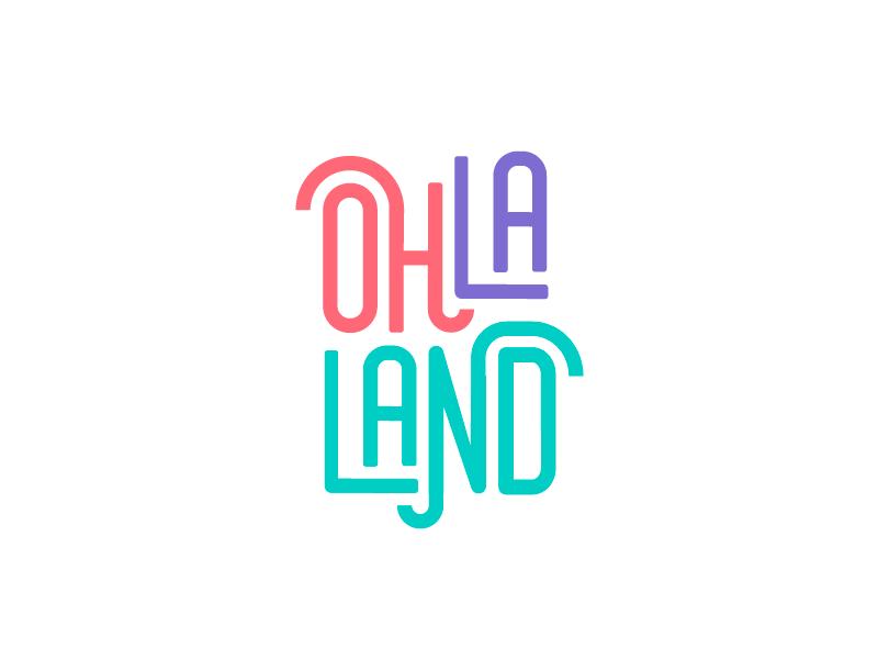 Ohlaland typography typologo logotipe typogaphy clothes brand colorful design logo branding design