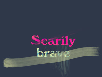 Scarily brave dreams illustration solopreneur growth mindset starting over growth hope typography procreate lettering