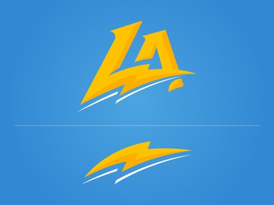 Los Angeles Chargers Concept logo sports football los angeles la chargers
