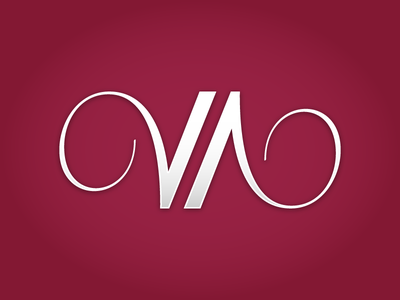 VA logo script va curlies