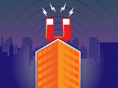 Skyline illustration skyline magnet