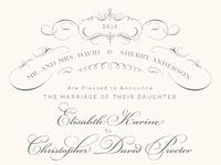 Full victorian invitation mary jane anderson