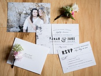 Birch Bark Wedding Invitation