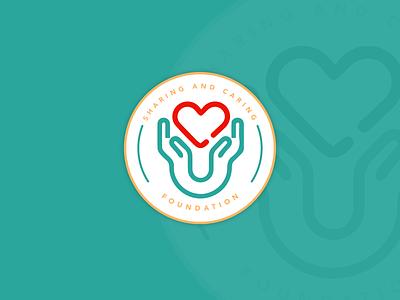 Logo Concept - Sharing and Caring Foundation non profit foundation design logo brandidentity
