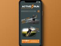 Active Run Webstore Mock Up